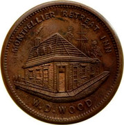 Australia Halfpenny ND KM# Tn273 Private Token issues MONTPELLIER RETREAT INN W.D.WOOD coin reverse