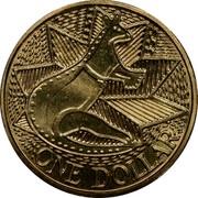Australia One Dollar Aboriginal Kangaroo Design 1988 KM# 100 ONE DOLLAR coin reverse