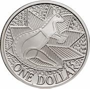 Australia One Dollar (Aboriginal Kangaroo Design) KM# 100a ONE DOLLAR coin reverse