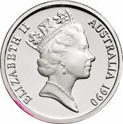 Australia One Dollar International Year of Peace 1990 KM# 87a ELIZABETH II AUSTRALIA 1990 RDM coin obverse
