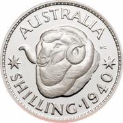 Australia One Dollar Masterpieces in Silver - 1940 shilling 1999 KM# 485 AUSTRALIA SHILLING 1940 K C coin reverse