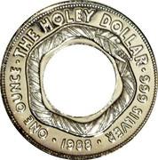 Australia One Dollar The Holey Dollar 1988 KM# 112 ONE OUNCE THE HOLEY DOLLAR 999 SILVER 1988 coin reverse