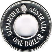 Australia One Dollar The Holey Dollar 1989 KM# 131 ELIZABETH II AUSTRALIA ONE DOLLAR coin obverse