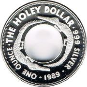 Australia One Dollar The Holey Dollar 1989 KM# 131 THE HOLEY DOLLAR 999 SILVER ONE OUNCE 1989 coin reverse
