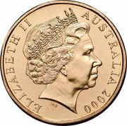 Australia One Dollar Victoria Cross 2000 KM# 493 ELIZABETH II AUSTRALIA 2000 IRB coin obverse