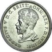 Australia One Florin Opening of Parliament House 1927 Proof KM# 31 GEORGIVS V D:G: BRITT: OMN: REX F.D.IND:IMP: coin obverse