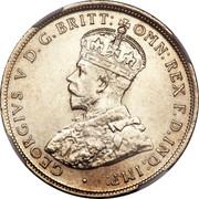 Australia One Florin - Two Shillings Florin 1911 KM# 27 GEORGIVS V D.G.BRITT:OMN:REX F.D.IND:IMP: coin obverse