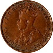 Australia One Penny George V 1922(m & p) KM# 23 GEORGIVS V D.G. BRITT: OMN: REX F.D: IND: IMP coin obverse