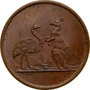 Australia One Penny ND KM# Tn282.3 Unnamed Token Issues W.J.TAYLOR LONDON coin reverse