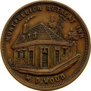 Australia One Penny ND KM# Tn274 Private Token issues MONTPELLIER RETREAT INN W.D.WOOD coin reverse