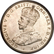 Australia One Shilling George V 1934 KM# 26 GEORGIVS V D.G.BRITT. OMN:REX F.D.IND:IMP: ∙ B.M. coin obverse
