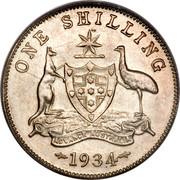 Australia One Shilling George V 1934 KM# 26 ONE SHILLING ADVANCE AUSTRALIA 1934 coin reverse