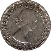 Australia Shilling Elizabeth II 1954 KM# 53 + ELIZABETH∙II∙DEI∙GRATIA∙REGINA coin obverse