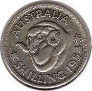 Australia Shilling Elizabeth II 1954 KM# 53 AUSTRALIA KG SHILLING∙1953 coin reverse