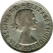 Australia Shilling Elizabeth II 1956 KM# 59 +ELIZABETH∙II∙DEI∙GRATIA∙REGINA∙F:D: coin obverse