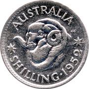 Australia Shilling George VI 1952 KM# 46 AUSTRALIA SHILLING∙1950 coin reverse
