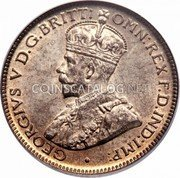 Australia Sixpence Coat of Arms 1918 KM# 25 GEORGIVS V D.G.BRITT:OMN:REX F.D.IND:IMP: coin obverse