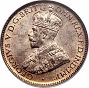 Australia Sixpence Coat of Arms 1918 KM# 25 GEORGIVS V D.G.BRITT:OMN:REX F.D.IND:IMP: coin obverse