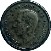 Australia Sixpence Coat of Arms 1939 KM# 38 GEORGIVS VI D:G:BR:OMN:REX F:D:IND:IMP. HP coin obverse