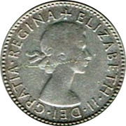Australia Sixpence Coat of Arms 1953 KM# 52 + ELIZABETH∙II∙DEI∙GRATIA∙REGINA coin obverse
