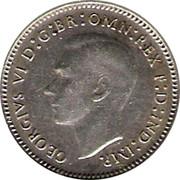 Australia Three Pence Wheat Fields of Gold 1943 KM# 37 GEORGIVS VI D:G:BR OMN:REX F:D:IND:IMP. HP coin obverse