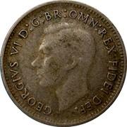 Australia Three Pence Wheat Fields of Gold 1949 KM# 44 GEORGIVS VI D:G:BR:OMN:REX FIDEI DEF. coin obverse