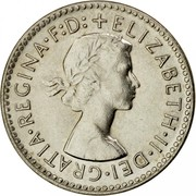 Australia Three Pence Wheat Fields of Gold 1960 Proof KM# 57 +ELIZABETH∙II∙DEI∙GRATIA∙REGINA∙F:D: coin obverse
