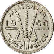 Australia Three Pence Wheat Fields of Gold 1960 Proof KM# 57 AUSTRALIA *YEAR* K G THREE PENCE coin reverse