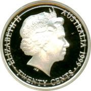 Australia Twenty Cents Masterpieces in Silver 1999 KM# 483 ELIZABETH II AUSTRALIA 1999 TWENTY CENTS IRB coin obverse