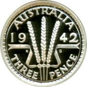 Australia Twenty Cents Masterpieces in Silver 1999 KM# 483 AUSTRALIA 19 42 THREE PENCE K G coin reverse