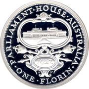 Australia Twenty Cents Parliament House 1998 KM# 410 PARLAMENT HOUSE AUSTRALIA ONE FLORIN 1927 K C coin reverse