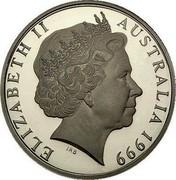 Australia Two Dollars Masterpieces in Silver - 1920 Sydney sovereign 1999 KM# 486 ELIZABETH II AUSTRALIA 1999 IRB coin obverse
