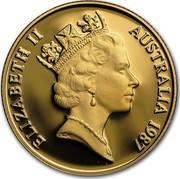 Australia Two Hundred Dollars Arthur Phillip 1987 KM# 94 ELIZABETH II AUSTRALIA 1987 RDM coin obverse
