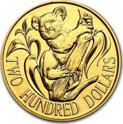 Australia Two Hundred Dollars Koala on branch 1980 KM# 71 TWO HUNDRED DOLLARS coin reverse