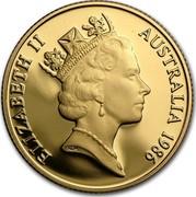 Australia Two Hundred Dollars (Koala on branch) KM# 86 ELIZABETH II AUSTRALIA *YEAR* RDM coin obverse