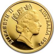 Australia Two Hundred Dollars Pride of Australia - Echidna 1992 KM# 259 ELIZABETH II AUSTRALIA 1992 RDM coin obverse