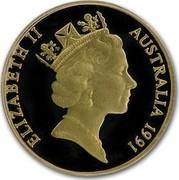 Australia Two Hundred Dollars Pride of Australia Emu 1991 KM# 160 ELIZABETH II AUSTRALIA 1991 coin obverse