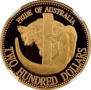 Australia Two Hundred Dollars Pride of Australia - Squirrel Glider Possum 1993 KM# 222 PRIDE OF AUSTRALIA TWO HUNDRED DOLLARS coin reverse
