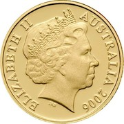 Australia 1 C Feather Tailed Glider - 50th Anniversary 2006 KM# 767b ELIZABETH II AUSTRALIA 2016 coin obverse