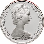 Australia 1 Cent Glider 2006 KM# 62a ELIZABETH II AUSTRALIA 2006 coin obverse
