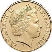Australia 1 Dollar 100 Years of Census 2011 KM# 1635 ELIZABETH II AUSTRALIA 2011 IRB coin obverse