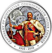 Australia 1 Dollar 100th Anniversary of Australian Commonwealth Silver Coinage 2010 KM# 1383 CENTENARY OF AUSTRALIAN COMMONWEALTH SILVER COINAGE 1910 - 2010 DB coin reverse