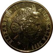 Australia 1 Dollar 100th Anniversary of Pension 2009 KM# 1498 ELIZABETH II AUSTRALIA 2009 IRB coin obverse
