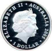 Australia 1 Dollar 100th Anniversary of Rotary International 2005 KM# 832 ELIZABETH II AUSTRALIA 2005 1 DOLLAR IRB coin obverse