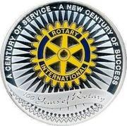 Australia 1 Dollar 100th Anniversary of Rotary International 2005 KM# 832 A CENTURY OF SERVICE - A NEW CENTURY OF SUCCESS 100 YEARS OF ROTARY ROTARY INTERNATIONAL coin reverse