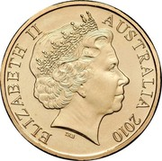 Australia 1 Dollar 150th Anniversary of the Burke & Wills Expedition 2010 KM# 1431 ELIZABETH II AUSTRALIA 2010 IRB coin obverse