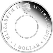 Australia 1 Dollar 200th Anniversary of the Australian Holey Dollar and Dump 2013 Proof KM# 1916 ELIZABETH II AUSTRALIA 2013 ∙ 1 DOLLAR ∙ coin obverse