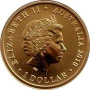 Australia 1 Dollar 2010 Shanghai World Expo 2010 KM# 1396 ELIZABETH II AUSTRALIA 2010 1 DOLLAR IRB coin obverse