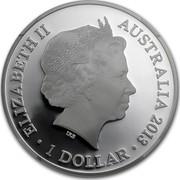 Australia 1 Dollar 20th Anniversary Kangaroo Series 2013 KM# 2023 ELIZABETH II AUSTRALIA 2013 1 DOLLAR IRB coin obverse