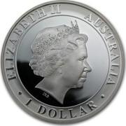 Australia 1 Dollar 35th Anniversary of the First Moon Walk 2004 KM# 736 ELIZABETH II AUSTRALIA 1 DOLLAR IRB coin obverse